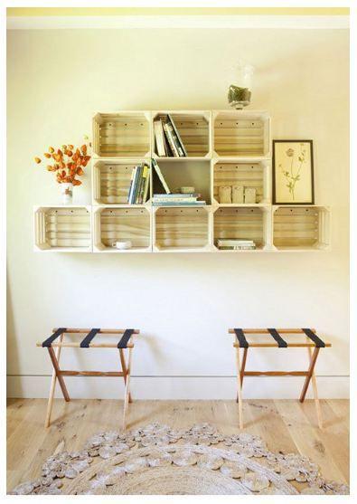 Pinterest Crate Shelves   Crate Shelves from Design sponge