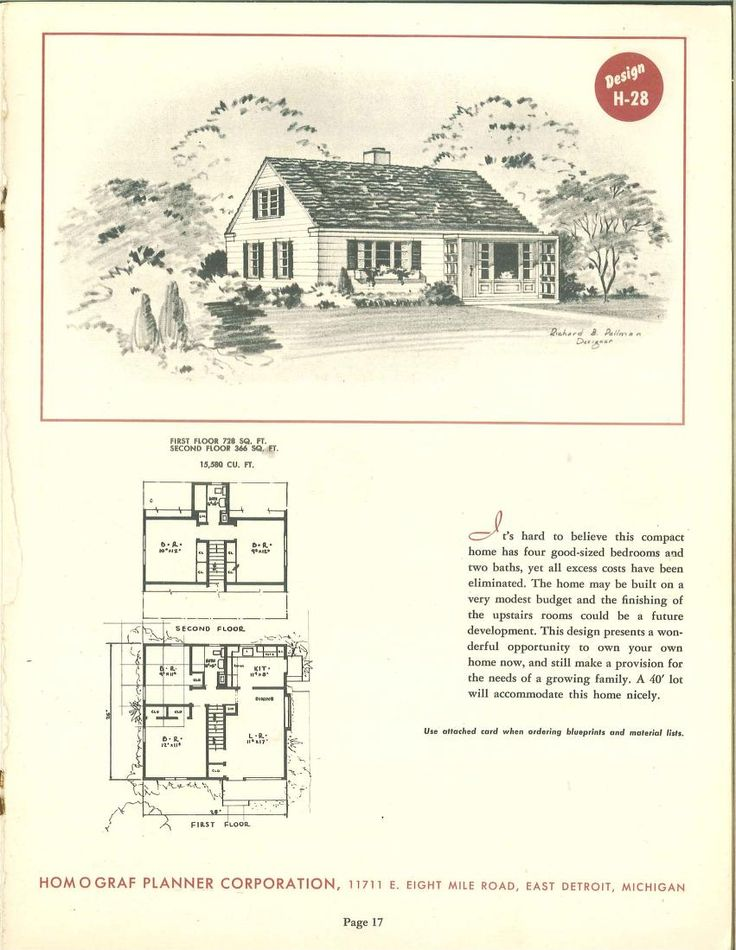 30 Prize Winning Homes : 1950 | VinTagE HOUSE PlanS~1950s | Pinterest |  Vintage House Plans, Construction And House