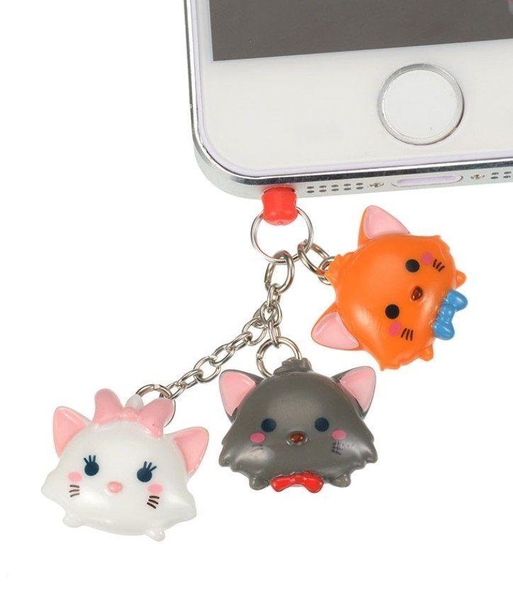TSUM TSUM Marie ❤ Smartphone plug Disney Store JAPAN Aristocats