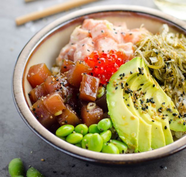 13 Poke Bowl Recipes To Try At Home | http://homemaderecipes.com/13-poke-bowl-recipes/