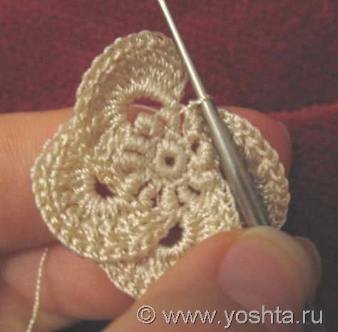 Irish crochet – Цветок | Уголок Yoshta. video con tutorial fotografico per un fiore bello e particolare.