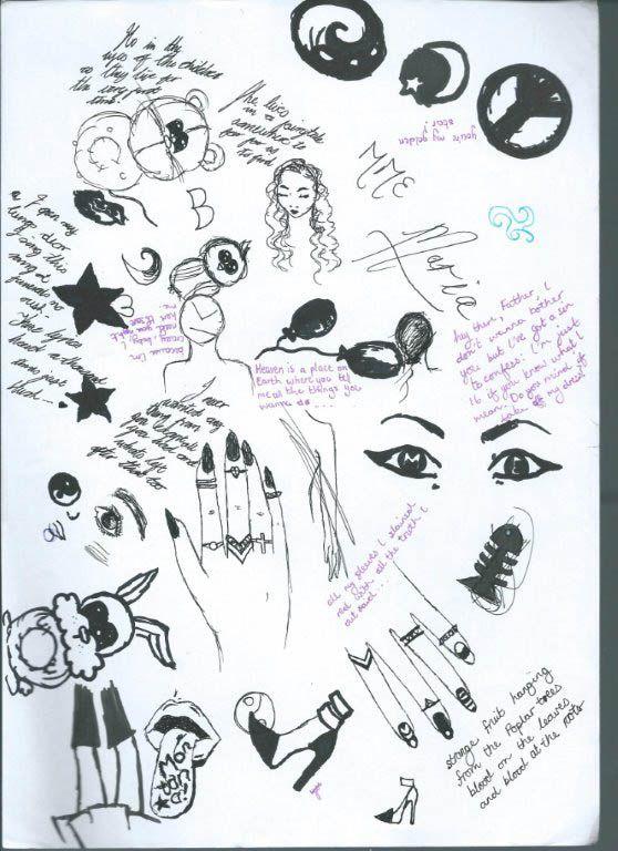 Tumblr doodles hipster handwritten tumblr girl cadernos for Tumblr hand doodles