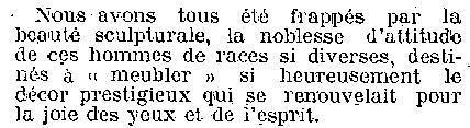 """Exposition coloniale de 1931. On ne parle pas de zoo humain, non on parle d'hommes destinés à """"meubler"""" le joli décor"""