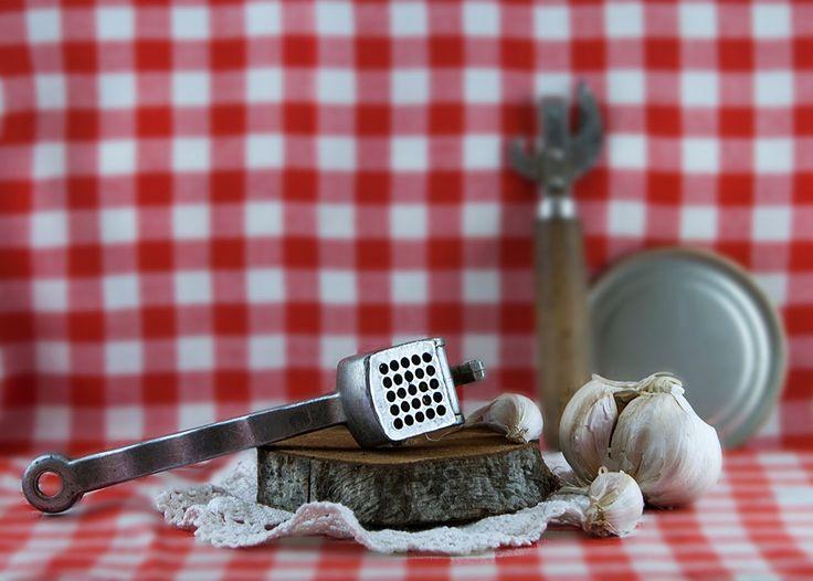 Vintage garlic press / USSR vintage / Metal garlic press / Kitchen utensils / Farmhouse / 1970s / Multifunctional press by vintagestylestore on Etsy