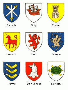 heraldic shield symbols - Google Search