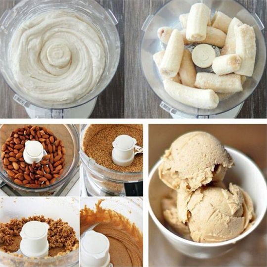 "Banana And Almond Butter Ice Cream - Ice cream – as everyone knows – is one of the most awesome things in the known universe. However ""Normal"" ice cream is not the healthiest thing. Outrageous amounts of sugar (one of the worst things you can eat) and cow's milk, and you might find all manner of colorings, flavoring additives and weird stuff that is neither ice nor cream."