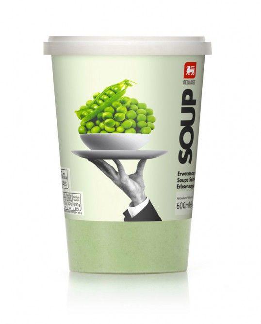 Delhaize Soup packaging