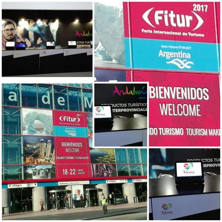 Ya está todo preparado para recibir mañana a los #profesionales #pabellón5 #Andaluciaenfitur #Tuhistoriafitur