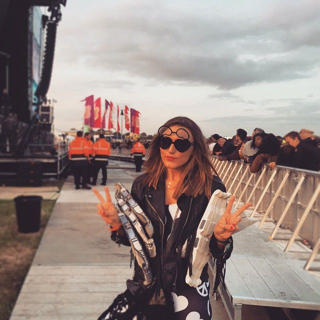 #Love pixie @alcock0388 at #WildLifeFestival about to go on stage with #Rudimental to giveaway 10,000 pairs of specs! What a stunner Xxx