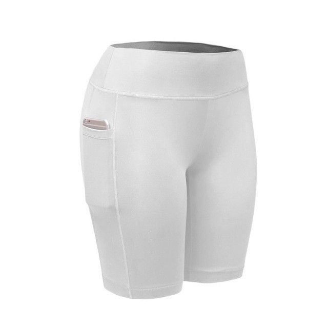 2017 Quick Dry Women Sports Shorts Women Elastic Running Fitness Gym Shorts With Pocket Feminino Fitness Workout Shorts