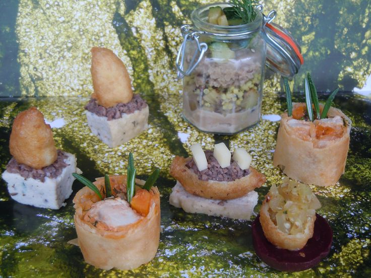 goat cheese canapés selection