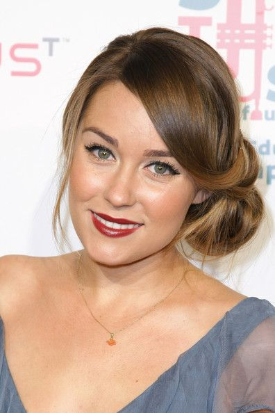 Hairstyles For Bridesmaid Only | Lauren Conrad\'s super-low bun hairstyle with loose curls is cute and ...