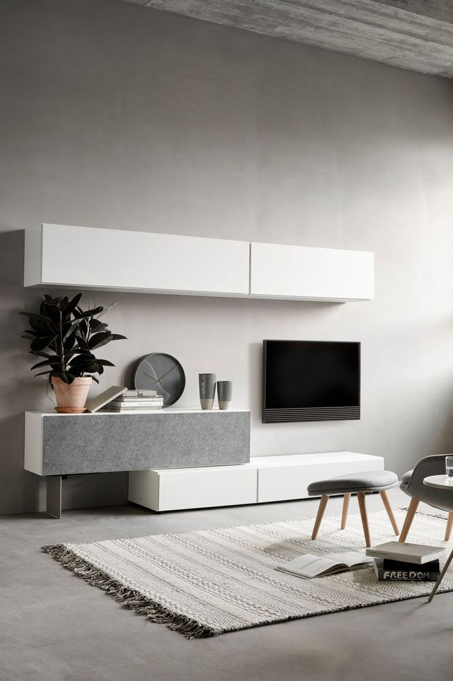 Design épuré pour mon meuble télé