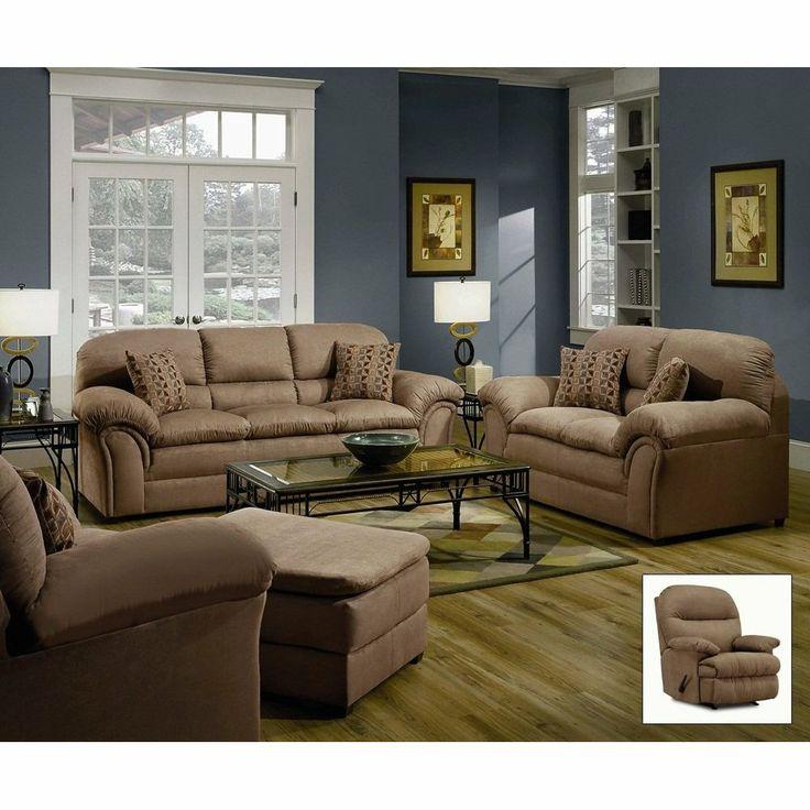Furnituremaxx Microfiber Chickasaw Tan Sofa, Made In USA : Sofas. Farben  Für WohnzimmerBlaue WohnzimmerWohnzimmer Möbel SetsLändliche ...