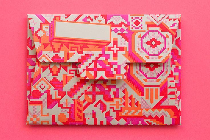Aerogram: Colors Combos, Nails Design, Envelope, Neon Colors, Design File, Tribal Prints, Bright Colors, Hungry Workshop, Graphics Patterns