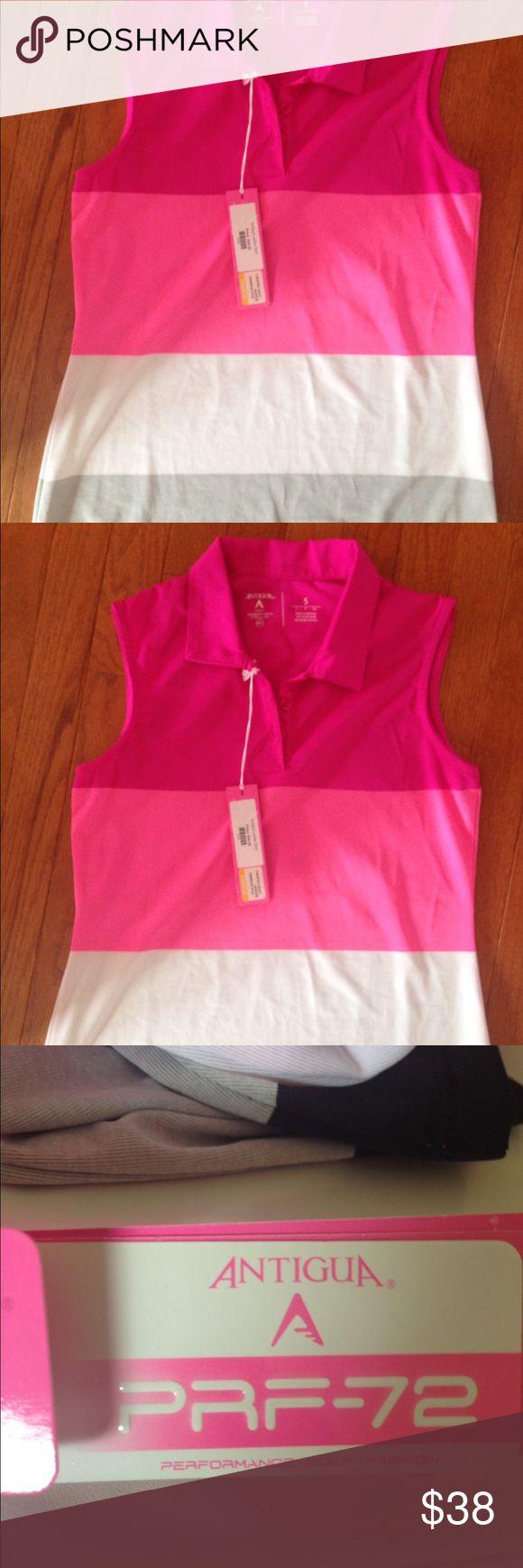 Women's Gold Shirt Brand new Antigua Tops