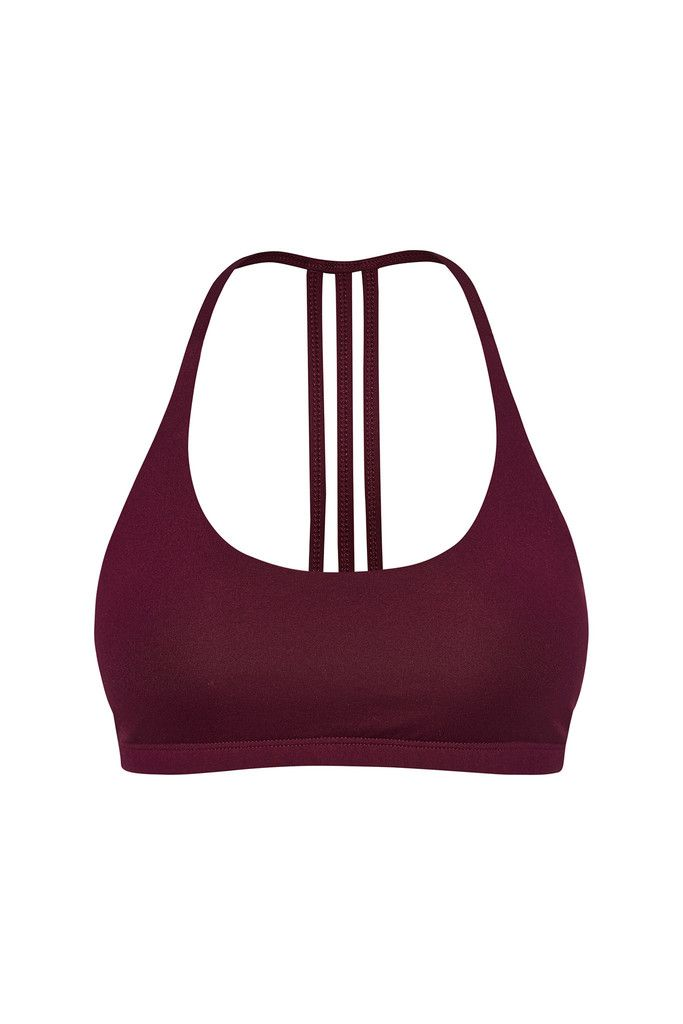 Freedom Flow Sports Bra - Mulberry – Dharma Bums Yoga and Activewear