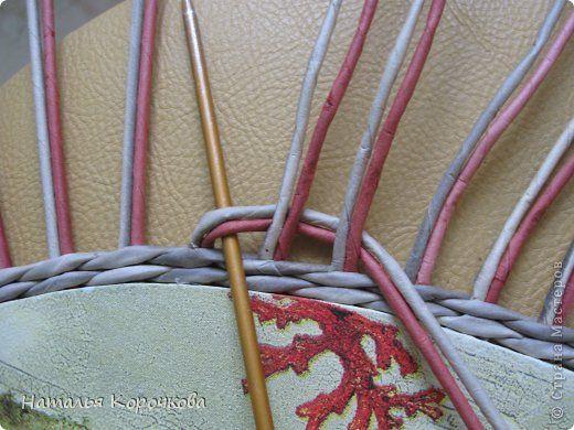 Поделка изделие Декупаж Плетение Постигаем новое подсказки Картон Салфетки Трубочки бумажные фото 8