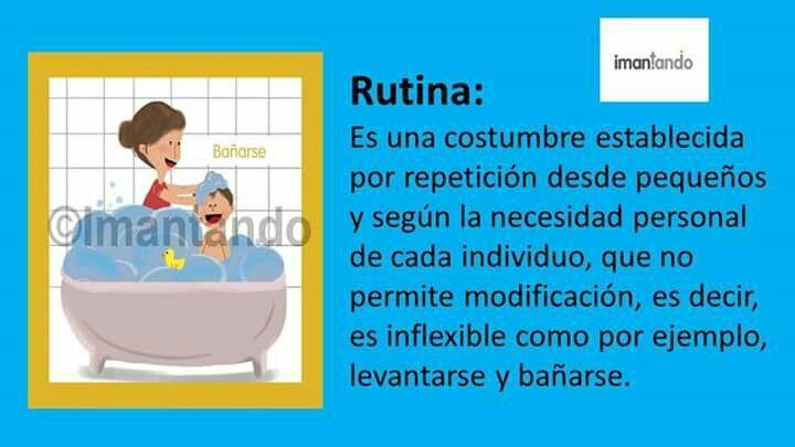 oy queremos explicarles la diferencia entre rutinas y hábitos, así nos es más fácil ententer su diferencia. #rutinas #ninos