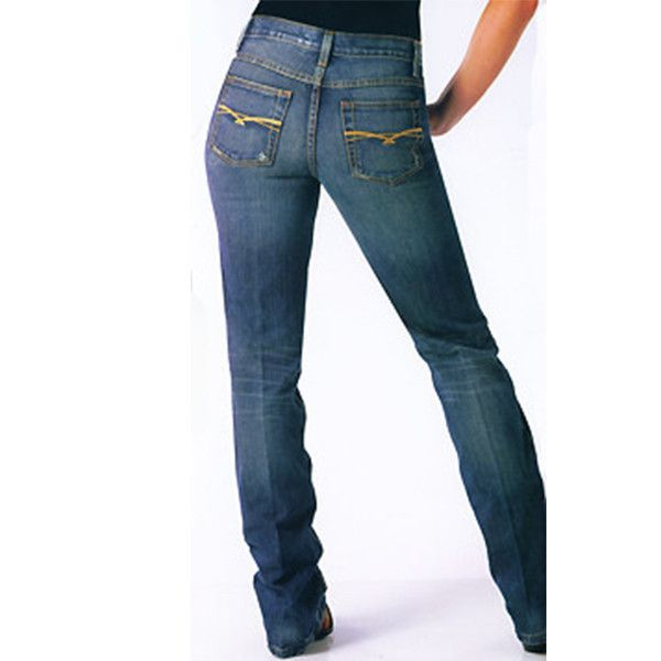 Ladies Cruel Girl Jeans - Dakota slim stretch jean in a darker wash.