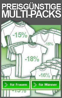 günstige T-Shirts, Sweatshirts und Unterwäsche 3er- und 5er-Packs