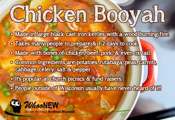 Wisconsin Chicken Booyah - recipes & origin of the name