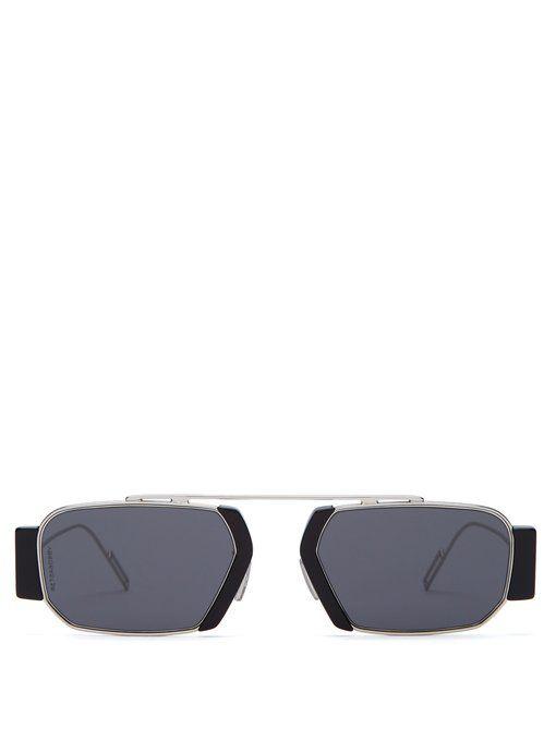 2325d5d3f6ce9 DIOR HOMME DiorChroma2 square-frame metal sunglasses.  diorhomme ...