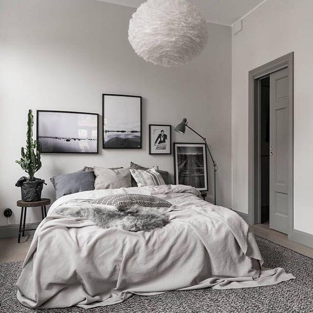 scandinavian bedroom design grey Best 25+ Grey bedroom decor ideas on Pinterest   Grey room, Grey bedrooms and Grey room decor