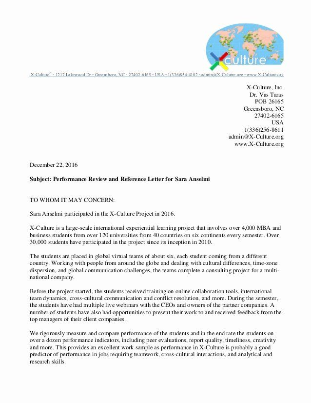 Letter Of Recommendation Peer New Re Mendation Letter For Sara Anselmi In 2020 Letter Of Recommendation Business Letter Template Character Letter Of Recommendation