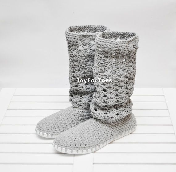 Crochet Boots Women Shoes Crocheted Boots Handmade Shoes for the Street Lace Boho Style Spring Fashion Gifts for her Surprise for holiday