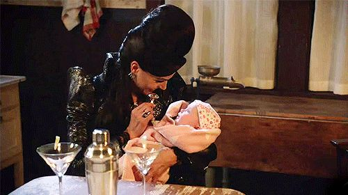 """Who knew the evil queen had a soft spot for children?"""