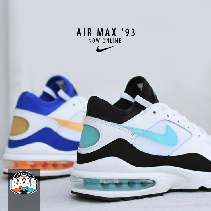 "Nike Air Max '93 ""Citrus"" & ""Menthol"" | Now online! | http://www.sneakerbaas.nl/catalogsearch/result/?q=93 | #BAASBOVENBAAS #NIKE #AIRMAX #FRESH | 306551-103 & 306551-100"