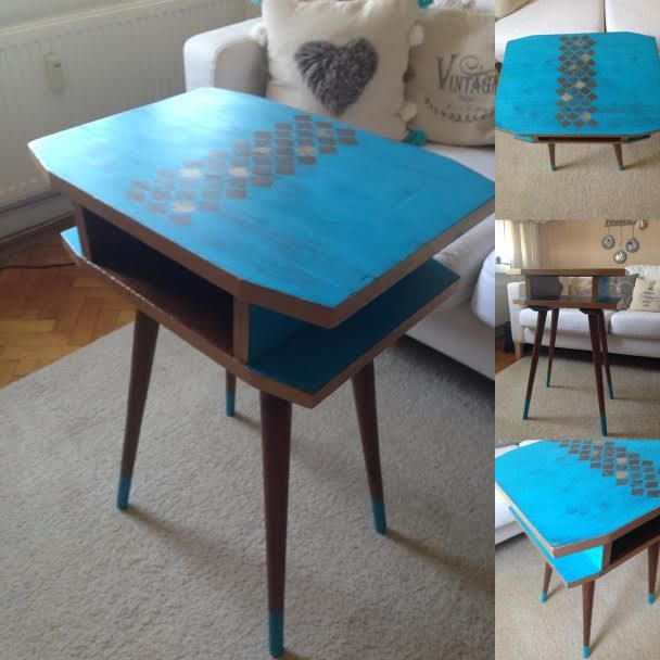 Mid Century Retro table by ByBeeSee on Etsy