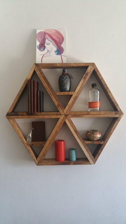 Gold Honeycomb Shelves