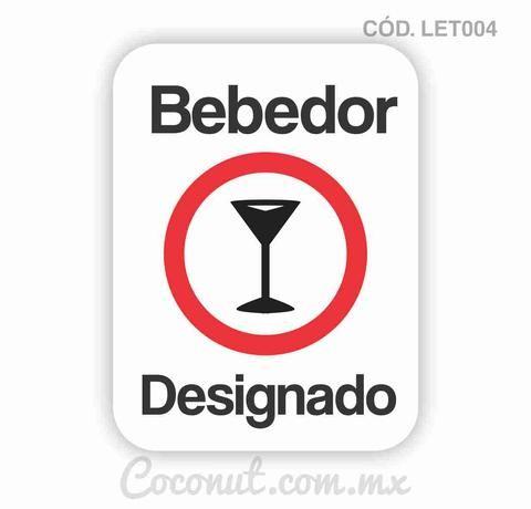 """Letrero para fiestas """"Bebedor designado"""""""