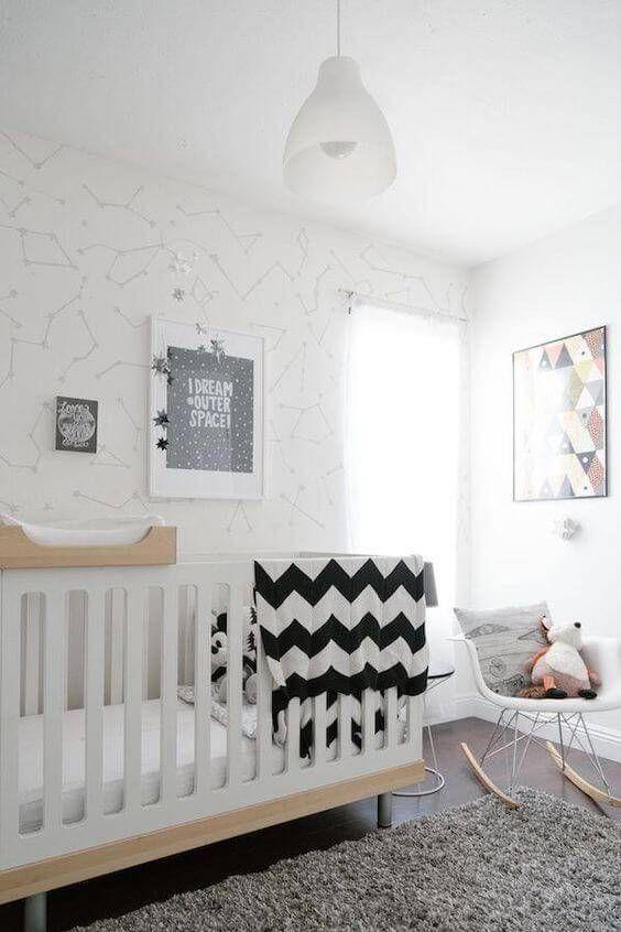 tapetes para quarto de bebe escandinavo