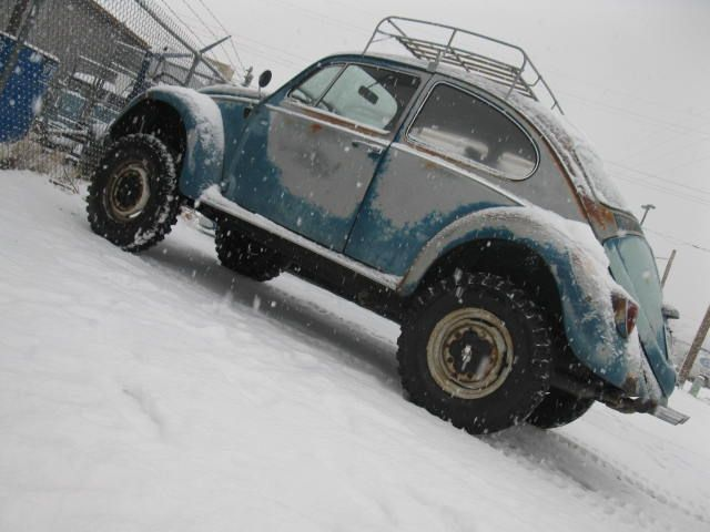 vw tdi lift kit | Lifted Bug. This bug is like fwd (weight of the engine on the drive wheels) in reverse. Lifted you can get around w/o plowin' snow!