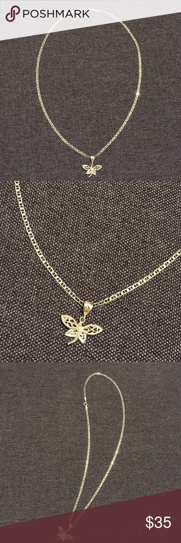 Silver Dragonfly Necklace Italy Jewelry Necklaces