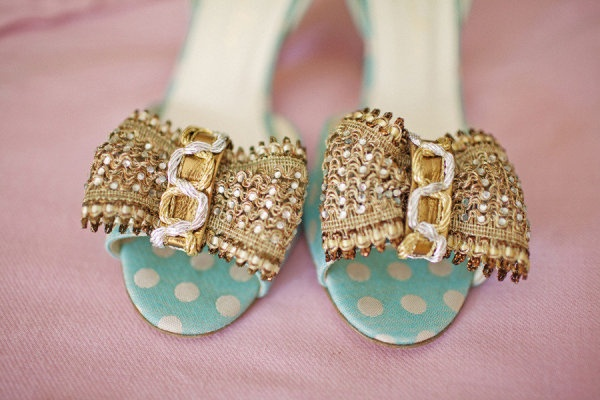 Wedding Shoes In Blue Bow Durham