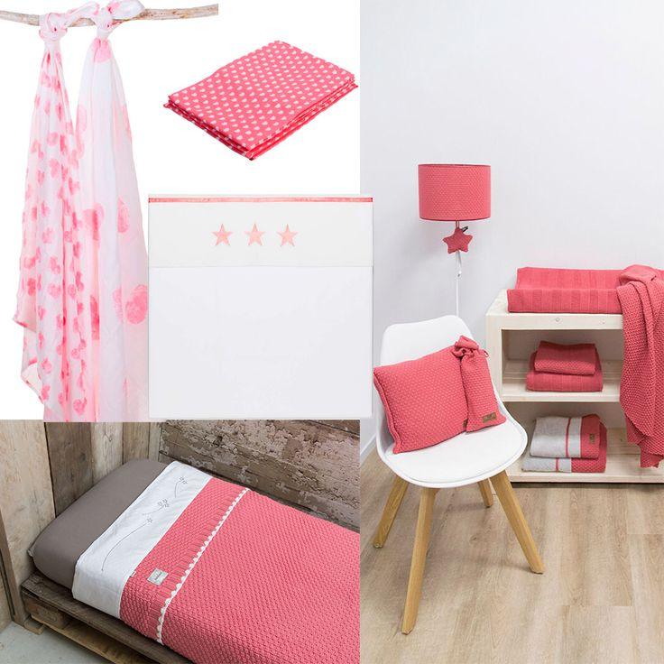 De nieuwe kleur roze: Koraal/Tea Rose. Verkrijgbaar van de merken Baby's Only, Koeka en Haton.
