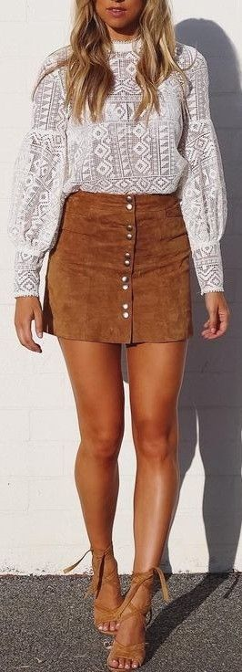 #summer #cool #outfits |  Lace + Suede