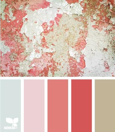 Paleta de rosados con gris...