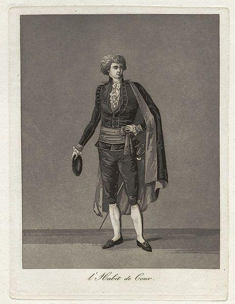 Fil:Gustaf IIIs nationella dräkt, svenska dräkten. L'Habit de Cour. Herre i hovdräkt. - Nordiska Museet - NMA.0054240.jpg