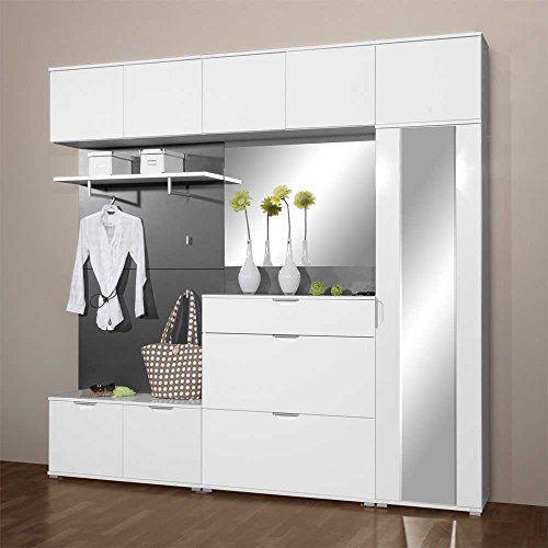 Garderobe in Weiß Hochglanz kompakt (8-teilig) Pharao24 Pharao24 http://www.amazon.de/dp/B00QV2UI30/ref=cm_sw_r_pi_dp_5Nbaxb1YXV12W