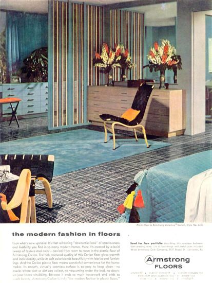 Armstrong Modern Fashion In Floors 1955 - www.MadMenArt.com | Through this…