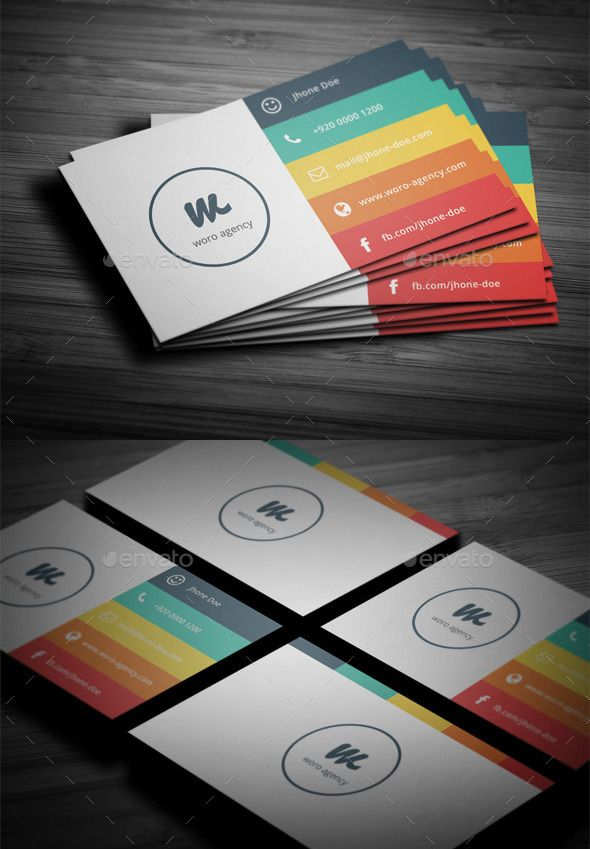 Flat Minimal Business Card by BdgPixel