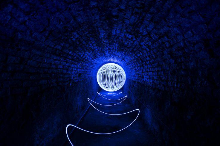 https://flic.kr/p/HHXs8Y | Underground Orbing | spinning led's around in the Victoria Tunnel