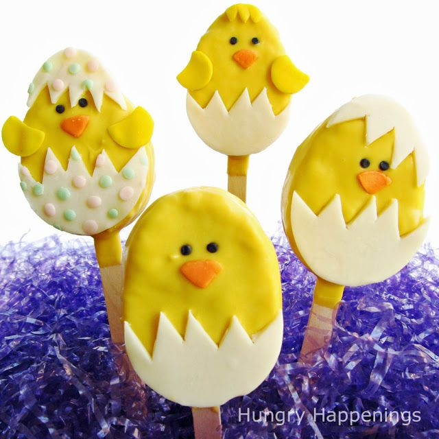 Easter chick lollies