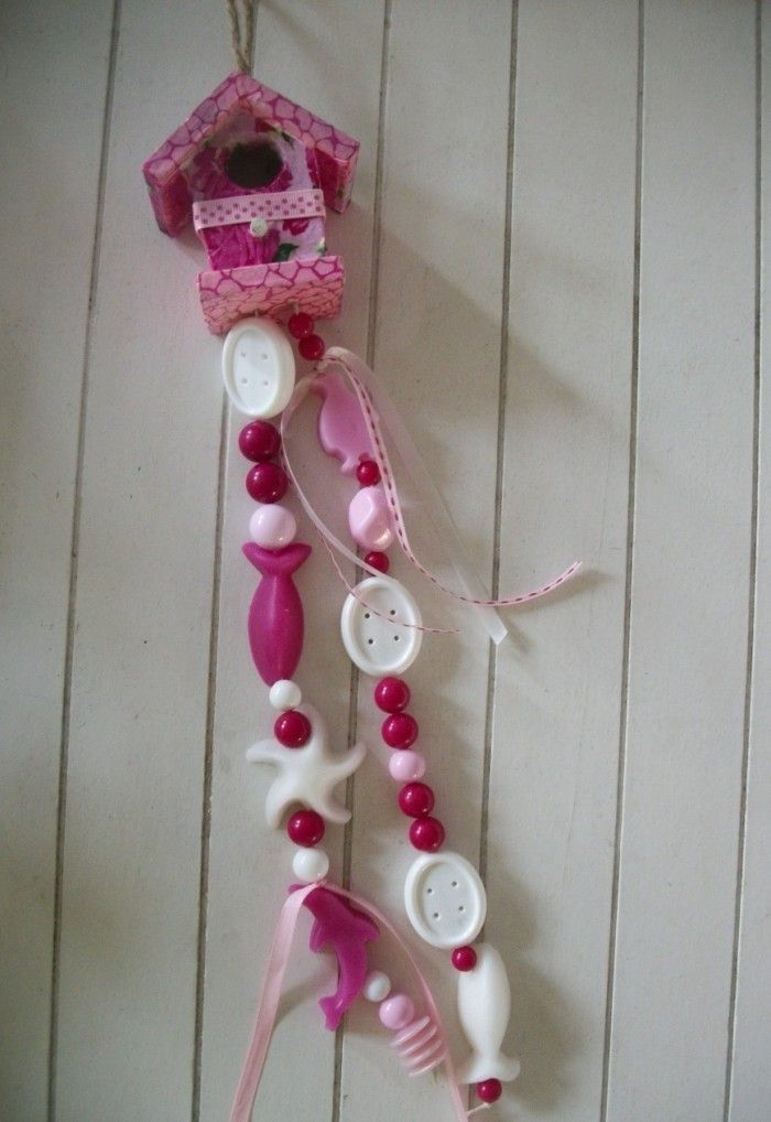 Decopatch zeepketting vogelhuisje. Zelf maken als knutselpakket of op een kinderfeestje bij Puck & Pol.