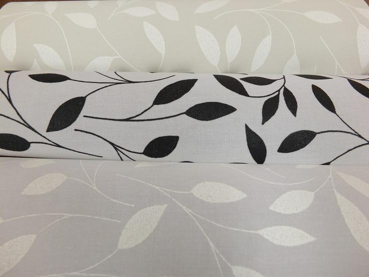 Fabrics Chatsworth. Cream, White, Black.
